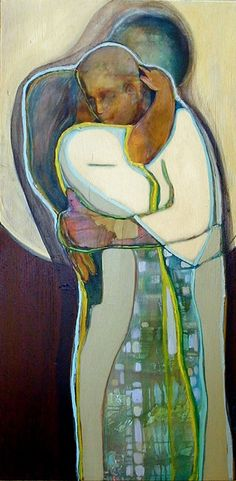 """Beautiful original acrylic painting entitled """"Slow Moondance"""""""