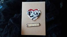 Love You to Death Gothic Valentine's Card  Skull