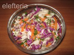 Γεύση Ελευθερίας: Πικάντικη σαλάτα Cabbage, Salads, Homemade, Vegetables, Food, Vegetable Recipes, Eten, Salad, Veggie Food