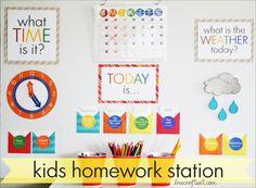 easy diy homework station for kids