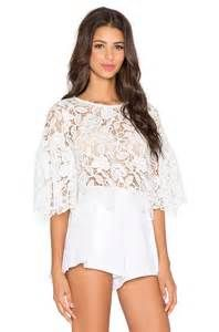 Alexis Lace Valery Bell Sleeve Crop Top   Pretty Little Liars