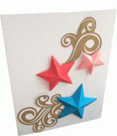 Silhouette Design Store - View Design #62542: 3d star card