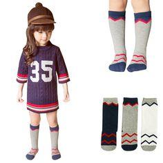00c2453b04f 1 Pair Baby Girls Boys Knee High Cotton Socks Kids Cute Cartoon Socks Tube  Socks For