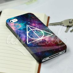 Harry Potter Deadly Hallows Grunge Galaxy for iPhone 5/5c/6/6 Plus Hard Case #UnbrandedGeneric