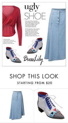"""""""Dresslily"""" by water-polo ❤ liked on Polyvore featuring Tiffany & Co., polyvoreeditorial and uglyshoes"""