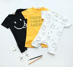 >> Click to Buy << ins* 2017 baby boys girls summer 100% cotton rompers short sleeve letter smile rabbit design soft high quality free shipping #Affiliate