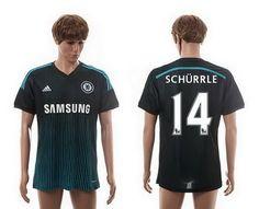 185072e2d8a Chelsea Third #14 Schurrle Thailand Quality Soccer Jersey 14-15 Season Black  Third,