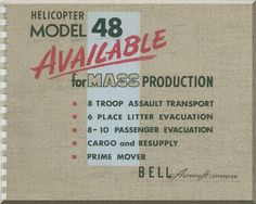 Bell Helicopter Model 48 Technical Brochure Manual - - Aircraft Reports - Manuals Aircraft Helicopter Engines Propellers Blueprints Publications