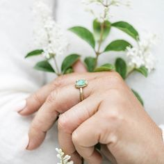 Amorphous Rose Cut Emerald With Hammered Halo and Hammered Band Organic Engagement Rings, Green Engagement Rings, Unique Roses, Gold Hands, Little White, Halo, Emerald, Gemstone Rings, Silver Rings