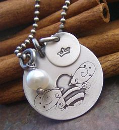 The Queen Bee Necklace - This sweet little bee would love to buzz on over and rest on your neck. A perfet lady she never stings ;)