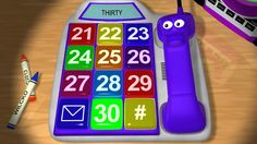 Learn numbers 21 to 30 with the Number Phone for kids. See it on YouTube: http://www.youtube.com/watch?v=np2FK0IUjvY