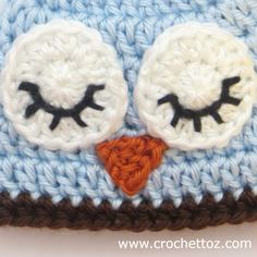 How to Crochet Owl Beak, Tiny Triangle, Super easy, takes one minute to make! Free written pattern instructions and video tutorial