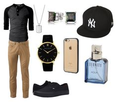 """clothes for guys to wear at a party."" by mexican-shawty1 on Polyvore featuring Dockers, Vans, Larsson & Jennings, Incase, New Era, Bling Jewelry, Emporio Armani, Calvin Klein, men's fashion and menswear"