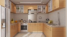 Kitchen at Aster Court apartments.