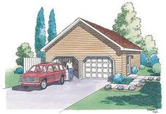 24' x 24' x 8' 2-Car Garage