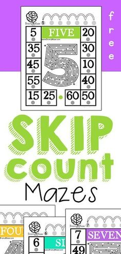 FREE Skip Counting Mazes