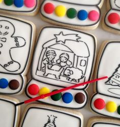 Christmas Nativity Paint Your Own cookies