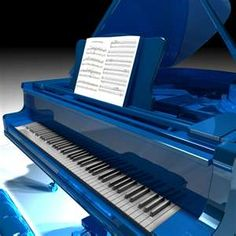 Blue. - how much fun would it be to play on this piano??