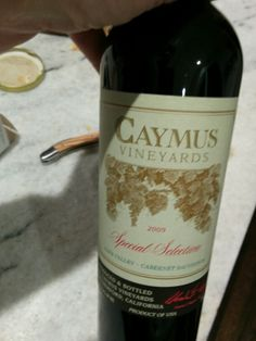 Caymus 2009 special nye Nye, Wines, Bottle, Flask, Jars