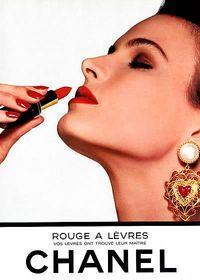 Vintage Chanel Lipstick Advert