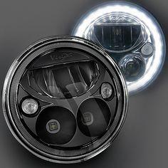 """Vision X Lighting 7"""" Vortex LED Headlamp Kit with Halo Ring for 07-15 Jeep Wrangler JK & JK Unlimited"""
