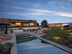 Californian #modern home with a majestic pool and #scenic views