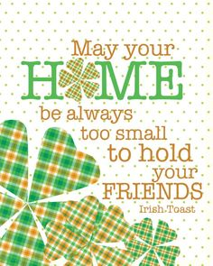 Happy St. Patrick's Day! #holidays #printables
