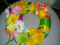 Floral Wreath, Wreaths, Jewelry, Home Decor, Homemade Home Decor, Jewlery, Door Wreaths, Jewels, Jewerly