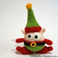 Berg the Christmas Elf Free Amigurumi Crochet Pattern Christmas Origami, Crochet Christmas Ornaments, Christmas Crochet Patterns, Holiday Crochet, Christmas Knitting, Christmas Elf, Christmas Projects, Crochet Crafts, Yarn Crafts