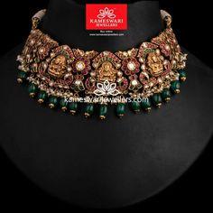 Antique Jewellery Designs, Gold Jewellery Design, Gold Jewelry, Antique Jewelry, Necklace Online, Necklace Designs, Bridal Jewelry, Jewelry Sets, Chokers