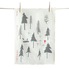 Walk in the Forest Tea Towel
