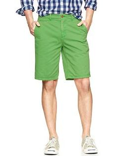"Lived-in flat front shorts (10"") 