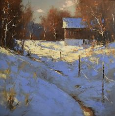 """""""Autumn into Winter""""- Breathtaking landscape painting by BoldBrush Artist Romona Youngquist http://romonayoungquist.com/workszoom/2260473"""