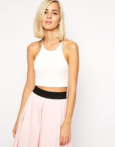 Halter-neck crop tops are always a really flattering shape. This one would be a great night out top! http://asos.do/ZEkHog