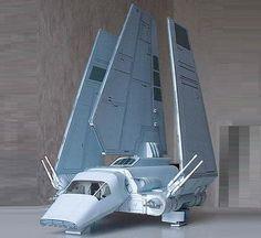 """Star Wars` Tydirium Spacecraft In 1/100 Scale - by Raziel -       Model Assembled and Photo by Raziel    An stunning paper model of the Tydirium spacecraft, from Star Wars Universe, in 1/100 scale, made by Polish designer Artur """"Raziel"""" Rożek."""