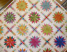 """Harlequin Stars"" by Emma Jansen from Australasian Quilt Convention via Red Pepper Quilts/Flickr"