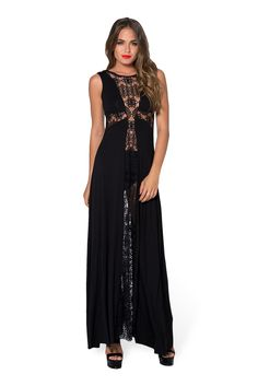 Little Lies Maxi Cross Dress - LIMITED by Black Milk Clothing $120AUD