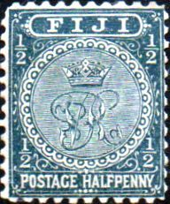 Postage Stamps Fiji 1893 Queen Victoria SG 86 Mint Scott 53 Other Fiji Stamps HERE