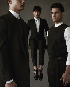"Jordan Torres, Satoshi Toda & Travis Cannata in ""The Men"" by Mariano Vivanco for the April 2013 issue of GQ China"