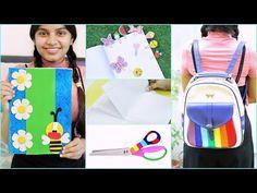 4 Cool DIY School Supplies | #Teenagers #Crafts #Hacks #Anaysa #DIYQueen - YouTube Diy Online, Cool School Supplies, Diy Backpack, Diy Notebook, Too Cool For School, Diy Videos, Cool Diy, Diy Paper, Diy Tutorial