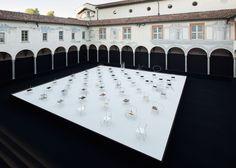 Nendo presents 50 Manga Chairs in Milan palazzo courtyard