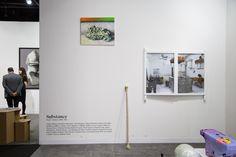 Exposition Substance, Head – Genève 2006-2012, présentée à artgenève du 31 janvier au 3 février 2013. ©Rebecca Bowring Magazine Rack, Photo Wall, Display, Storage, Frame, Furniture, Home Decor, Art, Radiation Exposure