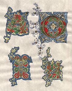 Calligraphy white vine letters
