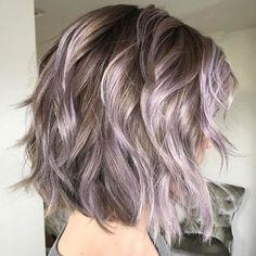 Pastel Purple Wavy Bob