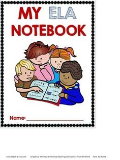 Cute covers for the front of ELA interactive notebooks. FREE!