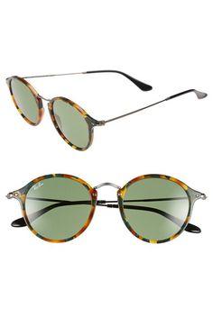 4b37d573f50 1920s style sunglasses  Womens Ray-Ban Icon 49mm Sunglasses - Havana Green   165.00 AT