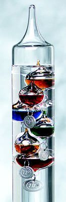 Galileo thermometer I have one in my house and i love it. It really works too.