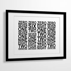 I absolutely LOVE this! Perfect gift for my number loving husband ;)
