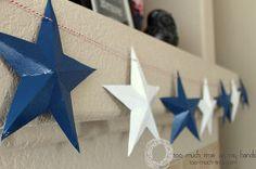 cereal box star tutorial, crafts, patriotic decor ideas, repurposing upcycling, seasonal holiday decor, wreaths