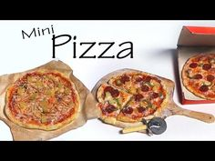 Realistic Miniature Pizza + Pizza Cutter - Polymer Clay Tutorial - YouTube